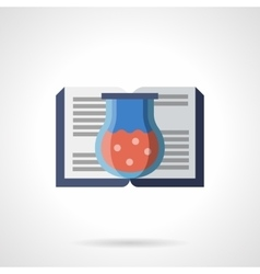 Book of chemical experiments flat icon vector