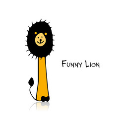 funny lion sketch for your design vector image