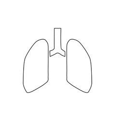 Human lungs icon outline style vector image