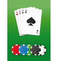 Poker chips and cards vector image