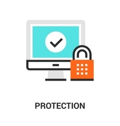 protection icon concept vector image