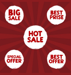 sale label set vector image