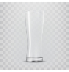 Transparent glass goblets vector image vector image