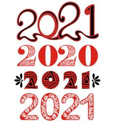 2021 new year vector