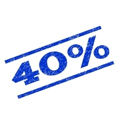 40 percent watermark stamp vector