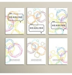Abstract colored circles on a white background vector image