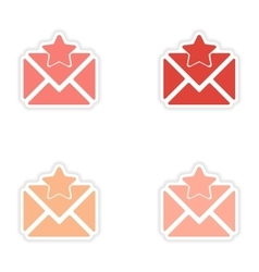 assembly realistic sticker design on paper email vector image