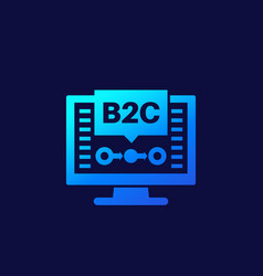 B2c business concept icon for web vector