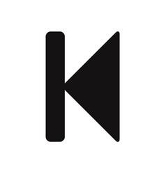 back rewind icon vector image