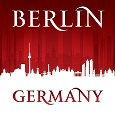 Berlin Germany city skyline silhouette vector image