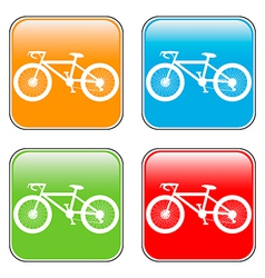 Bike buttons set vector
