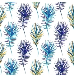 Bird blue seamless pattern vector image