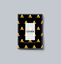 black and golden luxury cover design vector image