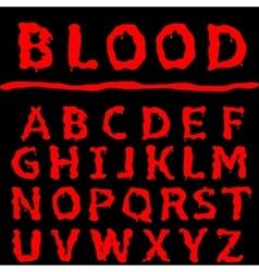 Blood letter set vector