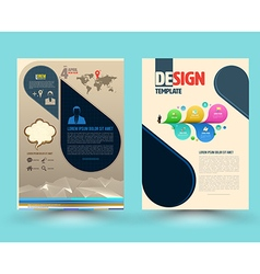 brochure template design with new smartphone vector image