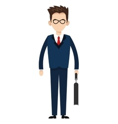 businessman with glasses icon vector image vector image