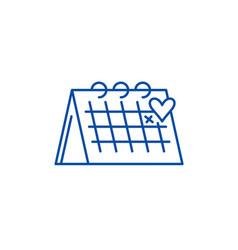 calendar line icon concept calendar flat vector image