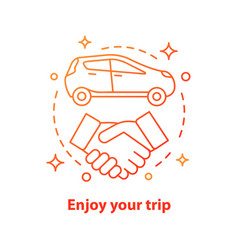 Car leasing deal concept icon vector