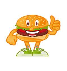 Cartoon burger vector