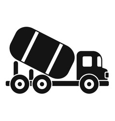 Cement mixer machine icon simple style vector