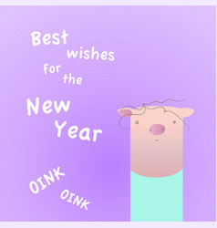 Chinee year of the pig vector