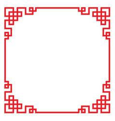 Chinese pattern frame border art china style vector