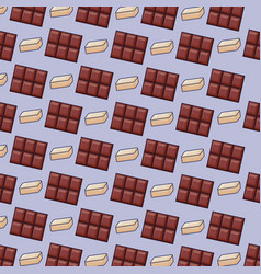chocolate bars icon pattern vector image