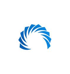 circle shape company logo vector image