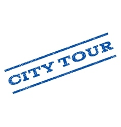 City tour watermark stamp vector