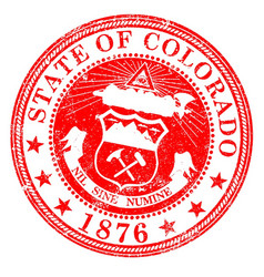 Colorado state rubber stamp vector
