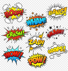 Comic Sound Effects vector