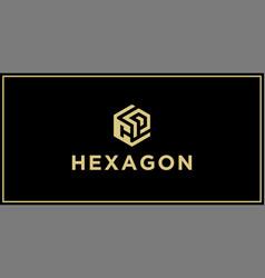 Cp hexagon logo vector