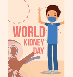 Doctor surgeon kidney world campaign vector