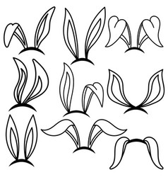 easter bunny ears design element for poster card vector image