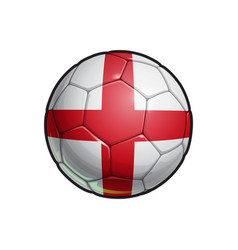 English flag football - soccer ball vector