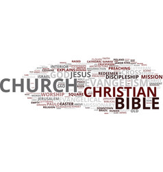 evangelism word cloud concept vector image