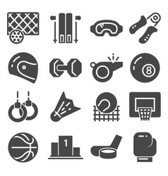 fitness and sport icons on vector image