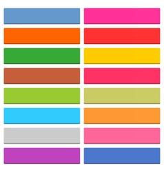 Flat blank web icon color rectangle button vector