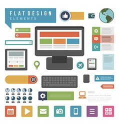 Flat ector infographic design elements concept and vector