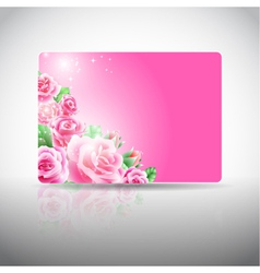 Gift card with roses vector image