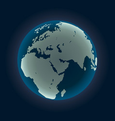 global sphere isolated on black background vector image