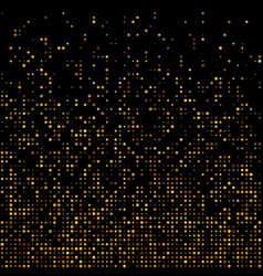 Gold disco glitter background vector