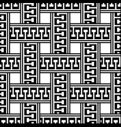 greek black and white seamless pattern braided vector image