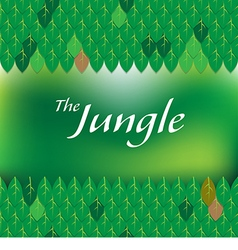green jungle forest frame vector image
