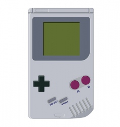 Handheld video game device vector