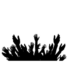 Hands raised up - symbol freedom choice vector