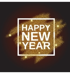 Happy New Year on gold glitter background vector image vector image