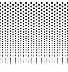 horizontally repeatable halftone background vector image