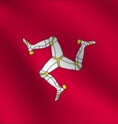 Isle of Man flag vector image