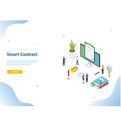 Isometric electronic digital contract concept for vector